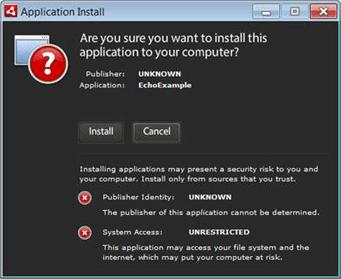 Certificados Code Signing Adobe Air não seguro