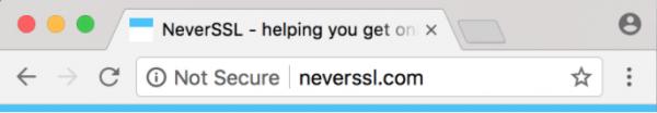 Mensagem no Google Chrome em páginas não seguras