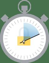 Emissão em minutos para proteção instantânea com um Certificado SSL de Validação de Domínio