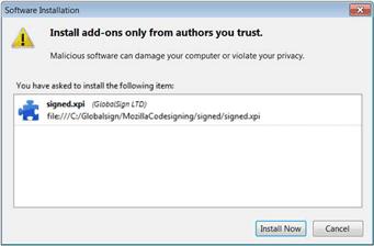 Certificado Code Signing Firefox seguro